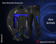 Waterproof Motorcycle Suit with Boots Motorbike Cordura Jacket Armoured Trouser
