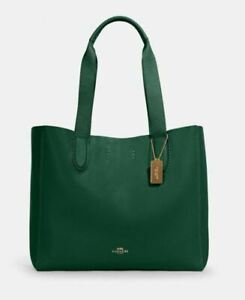 Coach Derby Tote, Kelly Green, New Factory Sealed, $298 Retail