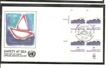 United Nations Vienna SC # 32 Safety At Sea . FDC. UNPA