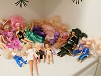 Barbie Doll, Clothes, Accessories Lot + 1 Vintage Tressy Doll + Carry Case - Lot
