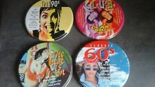 LOT de 4 CD compilations - Boite fer - 1995 - DISKY - 62 titres - Très bon état