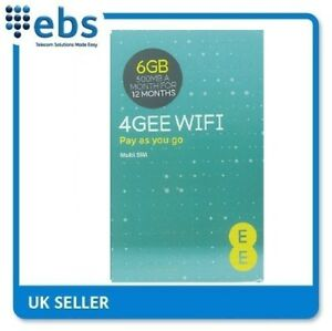 EE PAYG 4G Data Only Sim Card Preloaded With 6GB-500MB A Month For 12 Months
