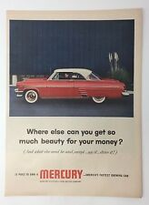 Original Print Ad 1954 MERCURY Where Else Can You Get So Much Beauty Photo