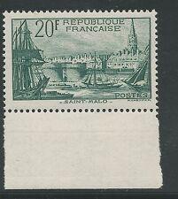 n°394 Port de Saint-Malo 20f Vert foncé 1938 Neuf** BDF Sud - Signé Calves