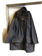 Barbour wax jacket Brown, Solway zipper Size 40, Plus Hood + Liner