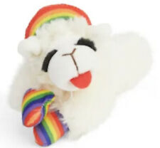 NEW! LAMB CHOP RAINBOW PRIDE PLUSH PET SQUEAKY TOY FOR SMALL DOGS (OR CATS)