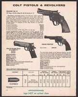1980 COLT Trooper MK III, Police Positive Revolver, Gold Cup MK IV Series 70 AD