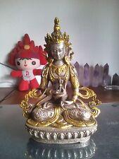 Belle argent Vajrasattva tibétaine statue Taille:13x8x22 CM