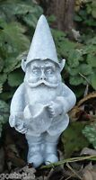 "Latex gnome with pail mold plaster cement casting garden mould 5""H x 2"" W"