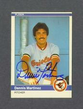 Dennis Martinez signed Baltimore Orioles 1984 Fleer baseball card