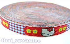 Hello Kitty Racing Red Ribbon Key Fob Collar Dog Doll Sewing Embellishments Trim