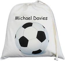 PERSONALISED - FOOTBALL - LARGE COTTON DRAWSTRING BAG - PE / Gym kit