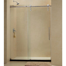 "DREAMLINE 56-60 x 76 ENIGMA-Z FRAMELESS SLIDING SHOWER DOOR 3/8"" GLASS BRUSHED"