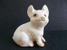 "Ceramic PIG FIGURINE 3"" White Beige Farm Animal Collectible"