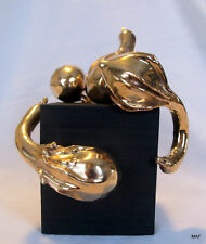 "Cast Bronze Abstract ""You're Gonna Make It"" Gourd Sculpture  Modern Art Foundry"