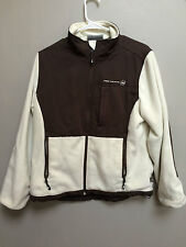 Free Country ladies woman's fleece winter jacket off white ivory brown GUC