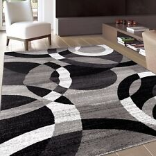 Rug Contemporary Abstract Modern Circles Soft Area Rugs