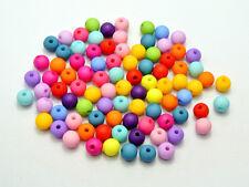 30 perles mat 6mm couleur mixte en resine 6 mm perle, creation bijoux, bracelet