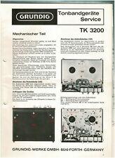 Grundig Service Manual für TK 3200 deutsch Kopie