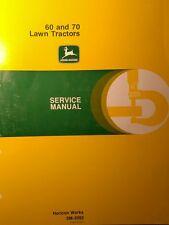 John Deere 60 & 70 Lawn Garden Tractor Service Repair Manual 184pg SM-2092 1970