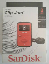 NEW SanDisk Sansa Clip Jam 8GB RED MP3 Player FM Radio Music USB MicroSD Slot