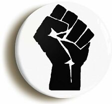 SOLIDARITY BLACK FIST SYMBOL BADGE BUTTON PIN (Size is 1inch/25mm diameter)