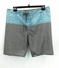 DRIPT 46 Mens Blue and Gray Swim Shorts Tie Front Swimwear Trunks Size 38