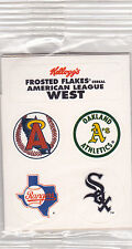 MLB American League-Logo Stickers-Kellogg's Frosted Flakes-Sealed--FREE SHIPPING