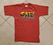 Wind Mill One Love Jamaica T-shirt Size 14-16 Red Orange