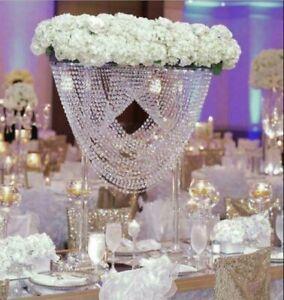 70CM Tall Wedding Crystal Centerpieces Acrylic Flower Stand