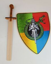 Wooden Toy Sword and Shield Set -  Role Play