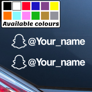 2 x SNAPCHAT PERSONALISED NAME CAR WINDOW BUMPER STICKER VINYL DECAL