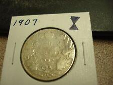 1907 - Canada - silver 50 cent coin - Canadian half dollar