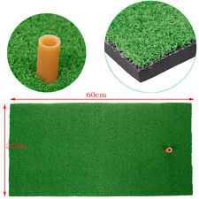 "Practical Backyard Golf Mat 12""x24"" Sports Practice Golf Mat Rubber Tee Holder"