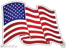 USA AMERICAN FLAG WAVE FLAG HELMET STICKER HARD HAT STICKER RIGHT LAPTOP STICKER