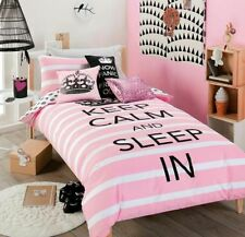 KEEP CALM SLEEP IN ~ SINGLE BED QUILT COVER SET ~ BEDROOM HOME DECOR