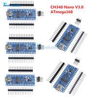 1/2/5/PCS 5V 16M Nano V3.0 ATmega168 CH340G USB Mini-controller For Arduino