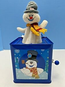 FROSTY THE SNOWMAN CHRISTMAS JACK IN THE BOX TIN MUSICAL GEMMY SPECIAL EDITION