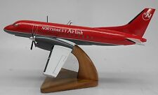 Saab 340 Northwest Airlink Airplane Desktop Wood Model Free Shipping Regular New