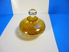 VINTAGE ITALIAN ART GLASS GOLD AMBER SUMMERSO DECOR PERFUME BOTTLE