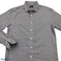UNTUCKit Mens Button Front Shirt Multicolor Blue Plaid Long Sleeve Slim Fit M