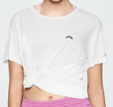 VICTORIA'S SECRET PINK GIRLFRIEND TEE TRIUMPH WHITE RAINBOW SMALL T SHIRT TOP S