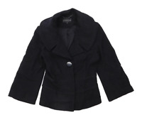 Marks & Spencer Womens Size 8 Wool Blend Black Coat