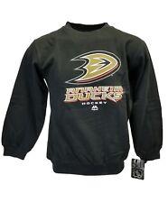 NHL Anaheim Ducks Majestic Fleece Youth Sweatshirt Black, nwt Youth Size