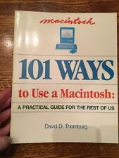 Vtg Apple Computer 101 Ways To Use A Macintosh: A Practical Guide 1984 Thornburg
