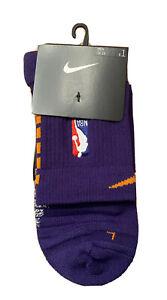 NIKE NBA Issued ELITE Socks ANKLE MID PSK649-566 Purple XL 12-15 Suns Authentic