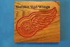 Detroit Red Wings Magnet Walnut Wood sign Home Made American Made