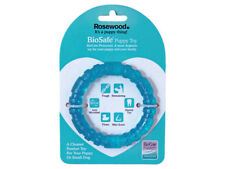 Rosewood BioSafe Puppy Ring Blue Dog Toy | Chew Teething Dental Floating Tough