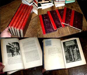 Les Misérables Victor Hugo 5 volumes 1877 édition illustrée Jules Rouff