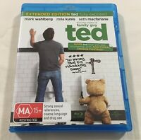Ted (2012) - Blu-Ray Region Free   Like-New   Mark Wahlberg   Mila Kunis